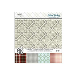 Scrapbooking-Papier Set Silver Valley 6 - 24 tlg.