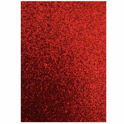 Moosgummi Glitter rot A4 - 2 mm