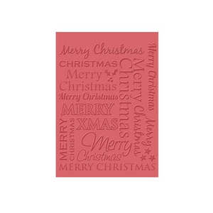 Embossing Folder (Prägefolder) Merry Christmas