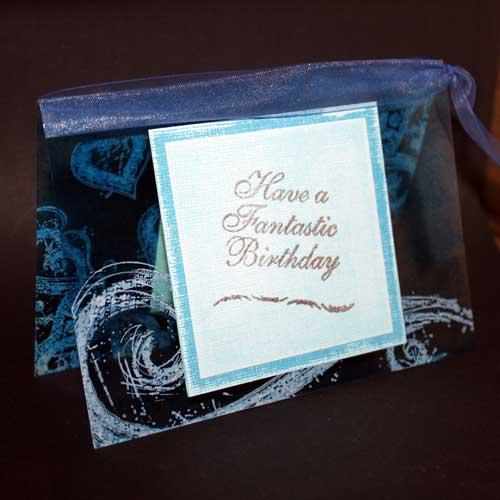 luftige Acetat-Karte zum Geburtstag