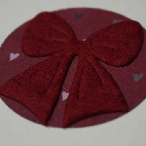 Stanzteil Schleife aus Maulbeerpapier für die DIY Collage
