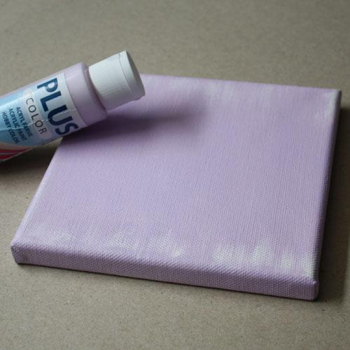 Keilrahmen mit Acrylfarbe grundieren