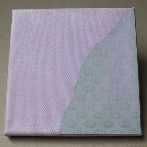 Hintergrundpapier mit Acrylfarbe