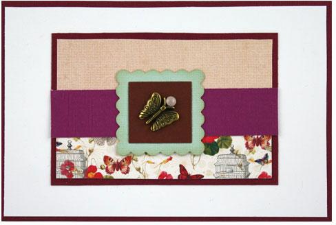 Glückwunschkarte mit Schmetterlings-Charm