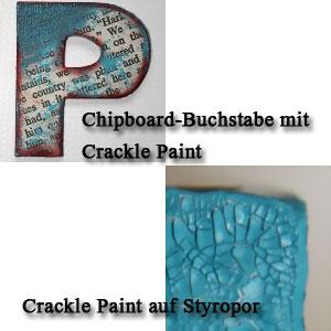 Distress Crackle Paint Beispiele