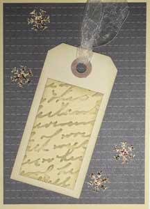 Distress Ink auf embossten Papier