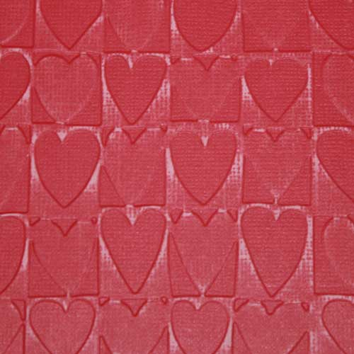 Color Core Cardstock mit Embossing-Folder Heart Blocks