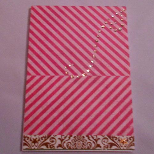 Notizbuch aus Papierresten mit Strass-Swirl