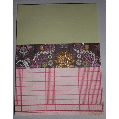 Notizbuch aus Cardstock & Papierresten