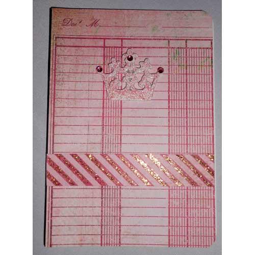 Notizbuch mit Krone, Strasssteinen und Glitterglue