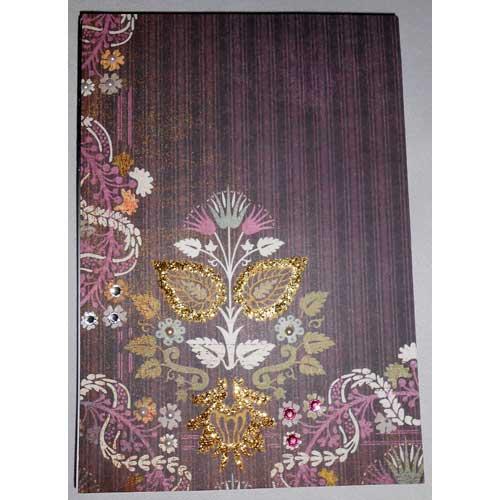 Notizbuch mit bezaubernden Details aus Strasssteinen, Glitterglue und Halbperlen