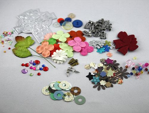 kostenlose Produktproben / Muster unserer Bastelartikel (ein Beispiel)