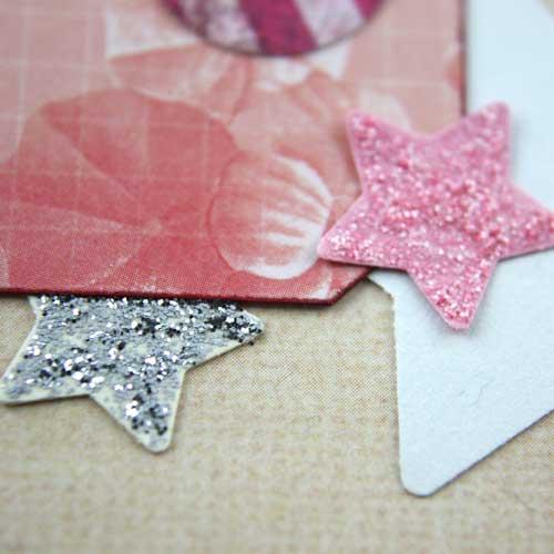 Sterne mit Glitterglue Glitzerkleber