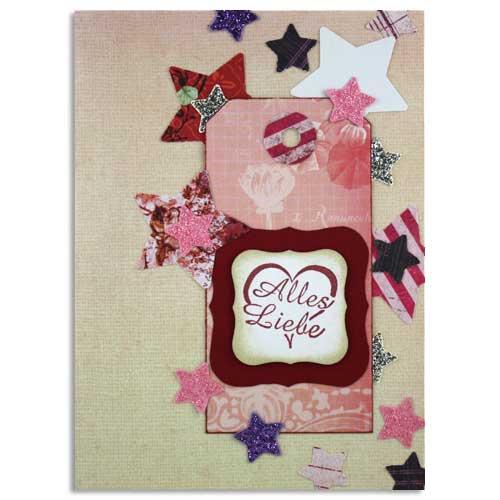 Sternkarte mit Picture Punch Motivlochern gestaltet