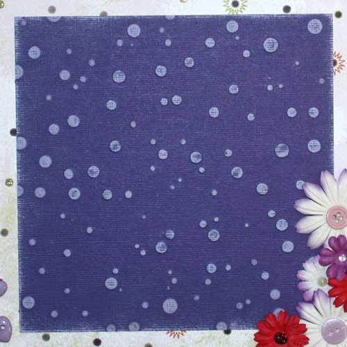 Color Core Cardstock mit Texture Plates geprägt