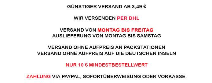 Zahlung & Versand Deiner Bestellung in meinem Bastelshop