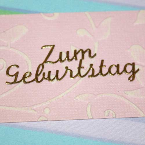 Color Core Cardstock mit Embossing-Folder Birds